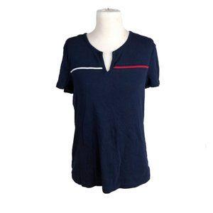 Tommy Hilfiger XL Shirt Short Sleeve Split Neck